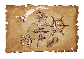 Poster di avventura del mare antico