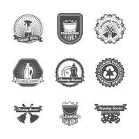 Set di etichette di pulizia