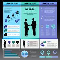 Modello di layout di presentazione di infografica