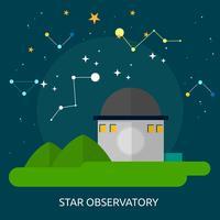 Disegno concettuale dell'illustrazione dell'osservatorio della stella