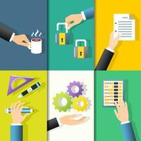 Icone delle mani di affari