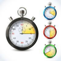 Cronometro metallico realistico vettore