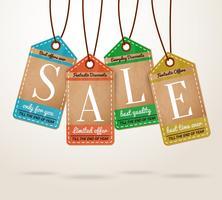 Etichette di vendita dei cartellini dei prezzi del cartone