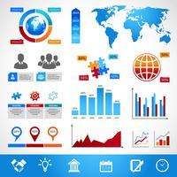 Elementi di design del layout di infografica di affari
