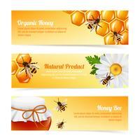 Banner di api del miele