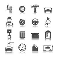 Set di icone di auto auto servizio