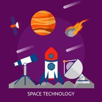 Progettazione concettuale dell'illustrazione di tecnologia dello spazio vettore