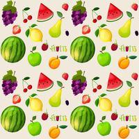 Modello senza cuciture di frutta fresca vettore