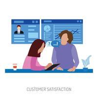 Progettazione concettuale dell'illustrazione della gestione di soddisfazione del cliente
