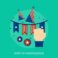 Progettazione concettuale dell'illustrazione di spirito di indipendenza