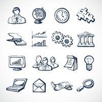 Icone di schizzo di infografica