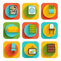 Icone interne della mobilia della Camera