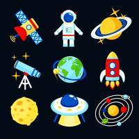 Set di icone dello spazio vettore