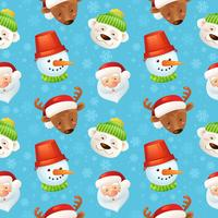 Reticolo senza giunte di caratteri di Natale vettore