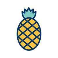 Icona di ananas vettoriale