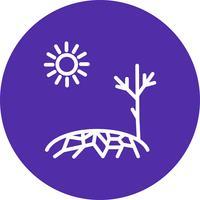 Icona di vettore di siccità