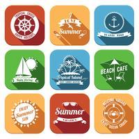 Set di icone di estate