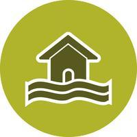 Icona di vettore di simbolo di alluvione