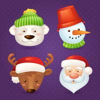 Set di caratteri natalizi vettore