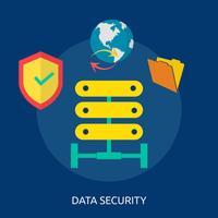 Progettazione concettuale dell'illustrazione di sicurezza dei dati vettore
