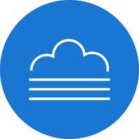 Icona di vettore di nebbia