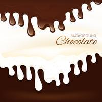 Spruzzi di cioccolato al latte vettore