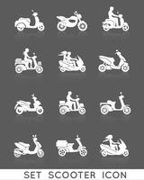 Set di icone di scooter