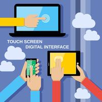 Gadget touch screen