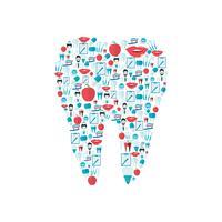 Icone dei denti piatte