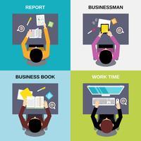 Set di uomo d'affari vista dall'alto