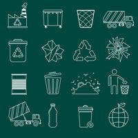 Contorno icone di immondizia