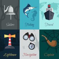 Set di mini poster nautici