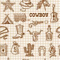 Modello senza cuciture del cowboy vettore