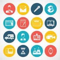 Set di icone di notizie vettore