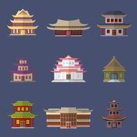 Icone di casa cinese