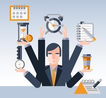 Uomo d'affari gestione del tempo