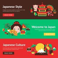 Set di banner del Giappone