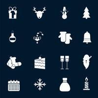 Set di icone di Natale vettore