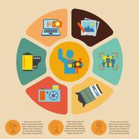 Set di infografica di fotografia vettore