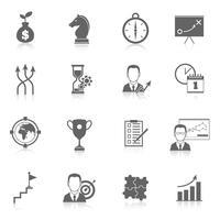 Icone di pianificazione di strategia aziendale