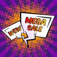 Fumetto di vendita vettore