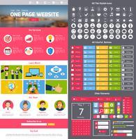 Modello di progettazione del sito Web vettore