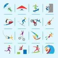 Icone di sport estremi vettore