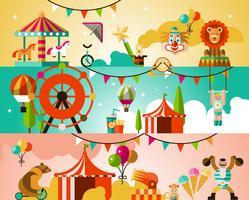 Sfondo prestazioni del circo