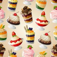 Modello senza cuciture dolce dolci vettore