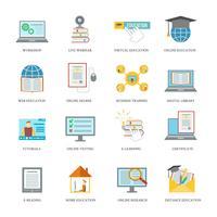 Set di icone di educazione online