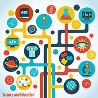 Infografica albero della scienza vettore