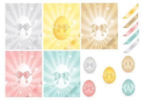 Pacchetto di vettore dell'uovo e dei nastri di Pasqua