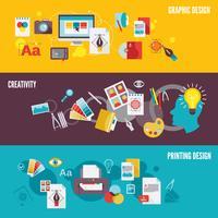 Set di banner di progettazione grafica