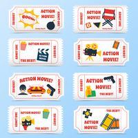 Set di biglietti per film d'azione